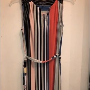 Cute striped sleeveless dress